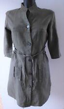 NICOWA BLUSEN KLEID oliv grün Gr.36 LEINEN dress linen – LUXUS PUR!