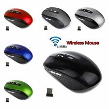 2.4GHz Portable Wireless Mouse Cordless Optical Gaming Mice With USB Receiver-