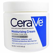 CeraVe Moisturizing Cream - 16 oz  (3 PACK) + Makeup Sponge