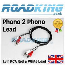 2 Plug Rca Macho Twin Phono Phono para | Corto De Plomo Cable De Audio Estéreo 1.3m