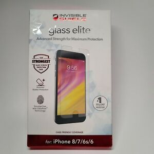 Zagg InvisibleShield Glass Elite Advanced Screen Protector iPhone 8/7/6s/6 New