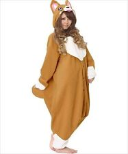 Sazac Animal Corgi Fleece Kigurumi Cosplay Costume Party Pajamas