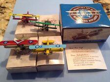 Miniature Biplanes 1928 Boeing Pt-17 Kaydet New In Box Set Of 4