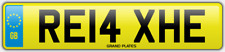 Relax Relaxed number plate RE14 XHE CAR REG FEES PAID RELAXING DRIVE CHILL COMFY