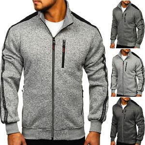 Sweatshirt Sweatjacke Pullover Pulli Classic Sport Stehkragen Herren BOLF Motiv