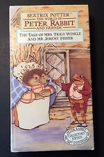 Peter Rabbit VHS Beatrix Potter Mrs Tiggy-Winkle & Mr Jeremy Fisher CollectorsEd