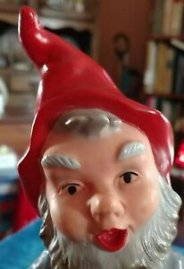 Heissner West Germany #961 Hard Plastic Gnome w Ukele; 7 Inches Tall Rare