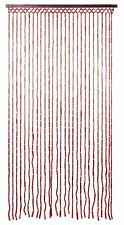 Beaded Bamboo Fly Insect Screen Bead Door Curtain ~ Chestnut Brown