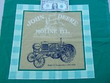 John Deere Pillow Panel Square Cotton Sewing Fabric Material Crafts 17