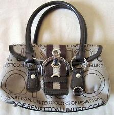 ▄▀▀ Original Benetton Linea OY9 Mini Tasche Handtasche, beige/braun TOP w.NEU▀▀▄