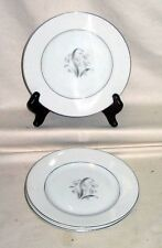 "(3) Lily Of The Valley Japan #1375 6 1/2"" Bread/Butter Plates Silver Trim"