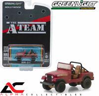 "GREENLIGHT 44840-C 1:64 JEEP CJ-7 RED ""THE A-TEAM"" TV SERIES"