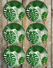 Monstera Leaf and Palms Drink Coasters Set of 6 Neoprene - Gift Ideas
