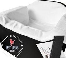 Dog Car Booster Seat Safety Travel Safe Puppy Pet Soft Medium Black Leather