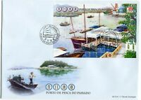 MACAU STAMP 2012 FISHING HARBOUR OF THE PAST FDC WITH S/S