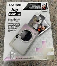 Canon - Ivy Cliq + 2 Instant Film Camera - Iridescent White