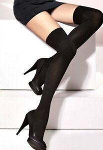 "Fashion Girls Womens  Over The Knee Hold Up Stockings Socks ""Parigina"" 100 Den"