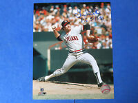 """LEN BARKER SIGNED SIGNED 8x10 PHOTO ~ Inscribed PERFECT GAME """"P.G. 5-15-81"""""""