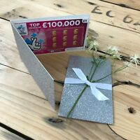 Silver Glitter Lottery Wedding Favour Lotto Card Holder Scratch Card Wallet