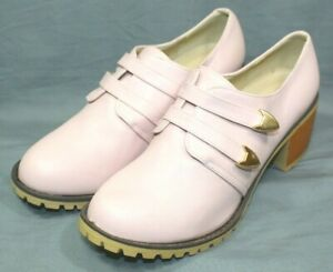 ANDIAMO womens 2 in block heel dress or casual shoes size 8 M light pink  NEW