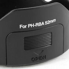 Black PH-RBA 52mm Lens Hood for Pentax SMCP-DA 18-55mm f/3.5-5.6 AL PK