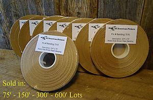 "Heavy Duty Brown Paper Banding 3/4"" x 75' - 150' - 300' - 600' Craft, Kraft, 002"