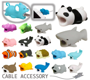 USB Cable Bite Protector Animal - Fits Apple iPhone iPad Charger Wire Cord