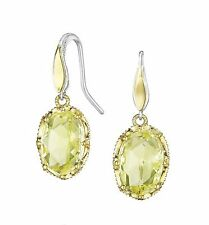 $640 Tacori SE103Y07 18K Sterling Silver Canary Earrings Wommen NWT Holiday GIFT