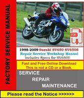 Suzuki Service Repair Workshop Manual 1998-2009 SV650 SV650S