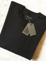 "ALL SAINTS BLACK ""ANDER"" OVERSIZED TEXTURED CREW JUMPER TOP - M & L - NEW TAGS"
