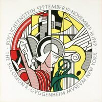 Roy Lichtenstein, 1969,  Guggenheim Museum Original Poster, Free US Shipping