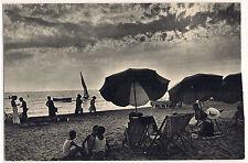 1930 - Viareggio - La spiaggia - effetto di nubi