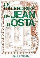 Le calendrier de Jean d'Osta   Jean d'Osta   1987