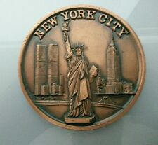 GRAN PLACA NEW YORK CITY (CON LAS TORRES GEMELAS) 162gr. 10cm DIAMETRO