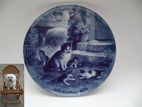 Porzellan Teller Wandteller Berlin Design Muttertag 1975 Ø 19,5 cm Katze