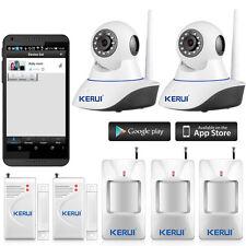 KERUI APP Remote Control HD IP Camera WiFi Home House Burglar Alarm System