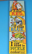 Dr. Seuss Cat In The Hat I Can Read Red 3.5' Banner Verticle Eye Shut pre school