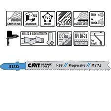 CMT: 5 lame per seghetto alternativo a taglio dritto, metalli pesanti JT123X-5
