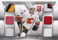 13-14 Titanium Sean Monahan 1/25 Six Star Rookie PATCH STRAP Jersey Flames 2013