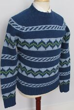 Abercrombie & Fitch Mens Lambswool Sweater Size Medium M Green Blue PERFECT