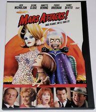Mars Attacks (Dvd, 1997, Snap Case) - Jack Nicholson - Region 1