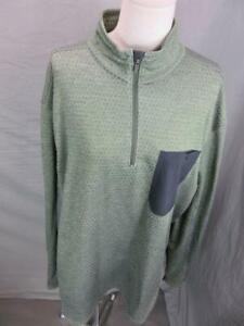 Mountain Hardwear Size 2XL Mens Khaki Long Sleeve 1/4 Zip Pullover Shirt T658