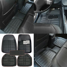 5X Car Floor Mats All-Weather Universal 5 Seats Car FloorLiner Carpets Set Black