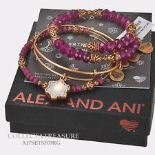 Authentic Alex and Ani Snowflake Set of 3 Rafaelian Gold ExpandableCharm Bangle
