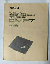 Vtg 1987 YAMAHA Digital Mixing Processor DMP7 - Owners Operation Manual