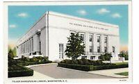Unused Postcard Folger Shakesperian Library Washington DC District of Columbia