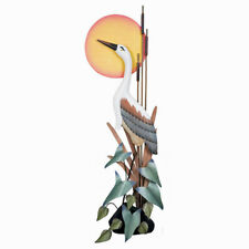 WALL SCULPTURES - GREAT BLUE HERON AT SUNSET WALL SCULPTURE - COASTAL DECOR