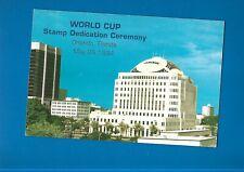 1994 World Cup Stamp Dedication Ceremony card inc mini sheet Us Postal Service