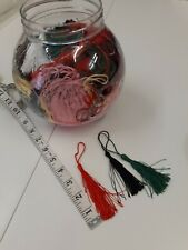 ASSORTED COLOURS TASSELS TO MANY TO COUNT! SEE PICS JARS NOT INCLUDED