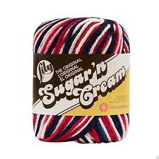 Lily Sugar 'N CREAM 4 CAPAS ovillo de lana 56.7g -2211 Rojo Blanco y azul